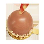 Rubychocolade bavarois gebakje