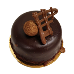 Chocolade bavarois gebakje